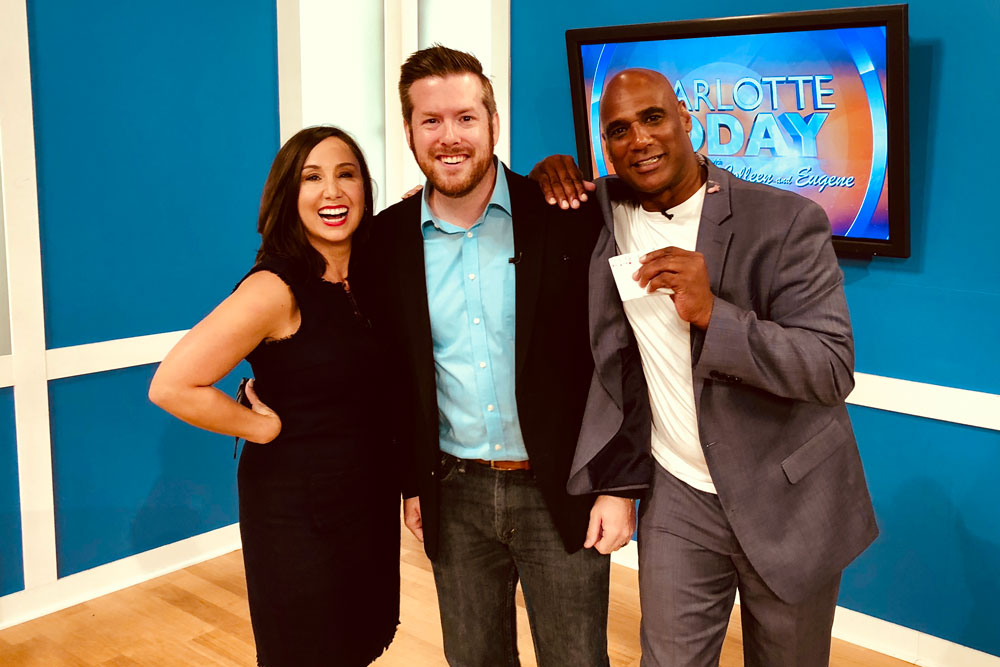 Magician Bryan Saint with Colleen and Eugene on NBC Charlotte Today