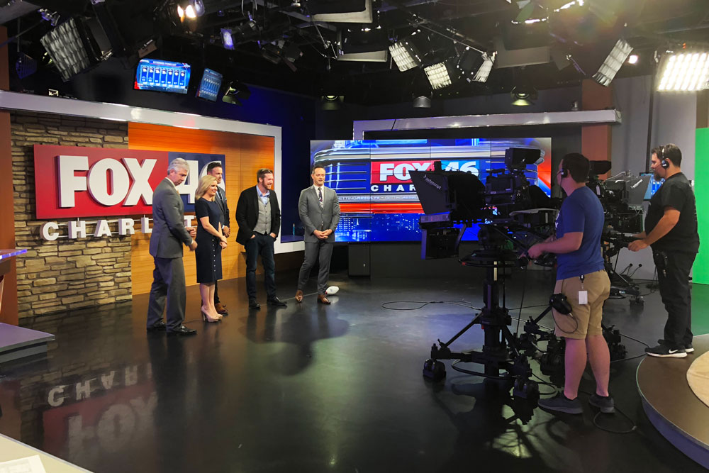 Magician talking with the hosts of Fox 46's Good Day Charlotte