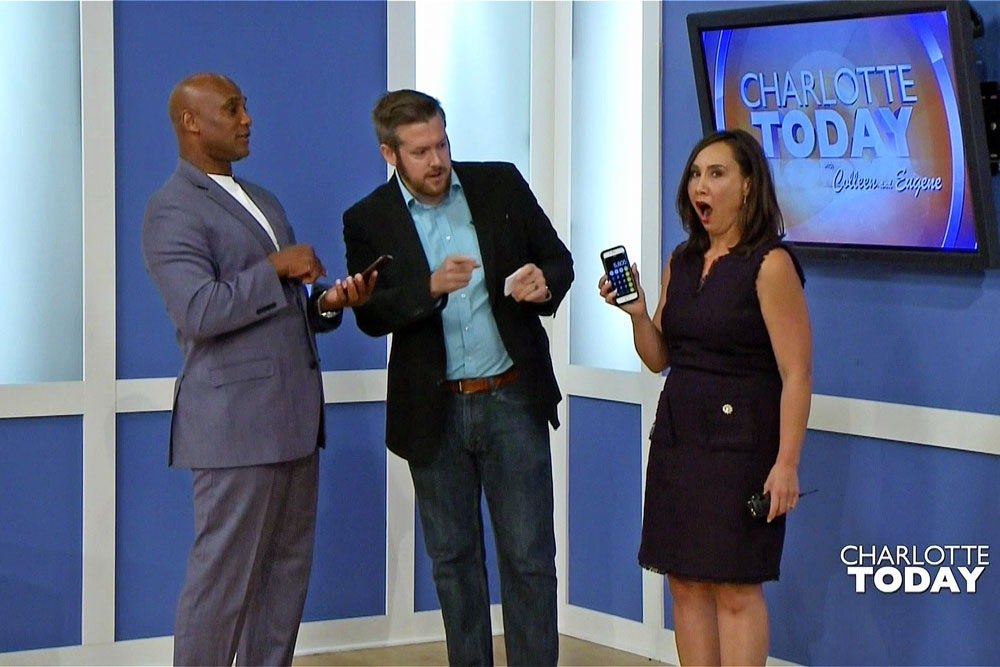 Magician shocks Colleen Odegaard and Eugene Robinson on NBC Charlotte Today