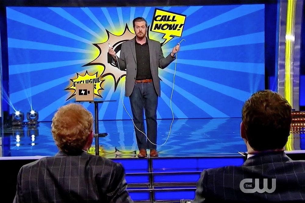 Magician Bryan Saint performs for Penn & Teller on the season finale of Penn & Teller: Fool Us