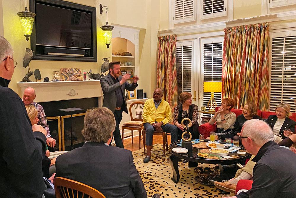Corporate Magician Bryan Saint performing a magic show in Hilton Head, SC